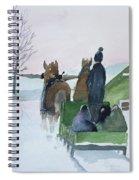 A Cold Ride Spiral Notebook