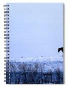 A Cold Winter Spiral Notebook