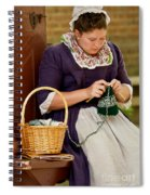 A Colonial Lady Knits Spiral Notebook