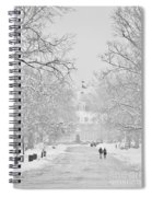 A Colonial White Winter Spiral Notebook