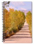 A Colorful Country Road Rocky Mountain Autumn View  Spiral Notebook
