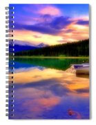 A  Colourful Evening At Lake Patricia Spiral Notebook