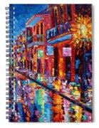 A Cool Night On Bourbon Street Spiral Notebook
