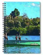 A Cormorant Cruise 2 Spiral Notebook
