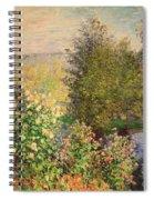 A Corner Of The Garden At Montgeron Spiral Notebook