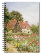A Cottage Garden Spiral Notebook
