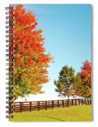 A Country Autumn Spiral Notebook