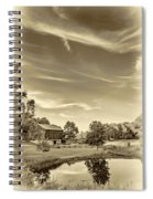 A Country Place 3 - Sepia Spiral Notebook