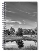 A Country Place Bw Spiral Notebook