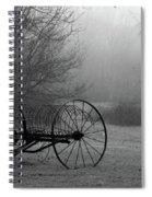 A Country Scene In Black And White Spiral Notebook