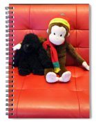 A Couple Of Monkeys Spiral Notebook