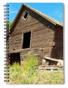 A Crooked Old Barn  Spiral Notebook