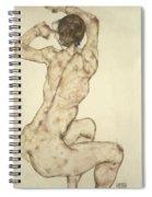 A Crouching Nude Spiral Notebook