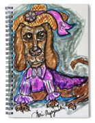 A Dachshund Easter Spiral Notebook