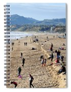 A Day At The Beach In Santa Monica Spiral Notebook