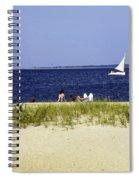 A Day At The Beach - Martha's Vineyard Spiral Notebook