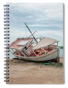 A Day Of Fishing Aground Spiral Notebook