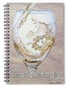 A Day Without Wine - Chardonnay Spiral Notebook