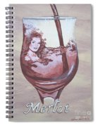 A Day Without Wine - Merlot Spiral Notebook