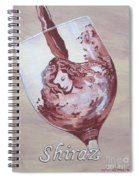 A Day Without Wine - Shiraz Spiral Notebook