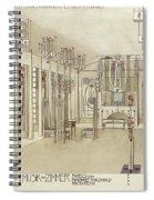 A Design For A Music Room Spiral Notebook