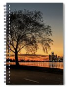 A Detroit Sunset - The View From Belle Isle Spiral Notebook