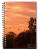 A Different Approach To Sunset Spiral Notebook