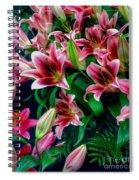 A Display Of Lilies Spiral Notebook