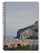 A Distant View Cefalu Sicily Spiral Notebook