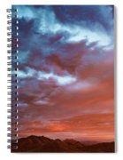 A Divided Sky At Sunset Spiral Notebook
