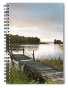 A Dock On A Lake At Sunrise Near Wawa Spiral Notebook