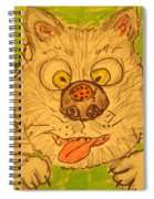 A Cat And A Ladybug Spiral Notebook