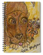 A Dog And It's Bumblebee Spiral Notebook
