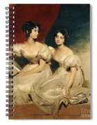 A Double Portrait Of The Fullerton Sisters Spiral Notebook