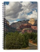 A Drive Through The Red Rocks  Spiral Notebook