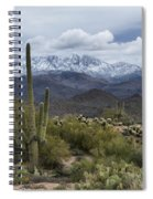 A Dusting Of Snow In The Sonoran Desert  Spiral Notebook
