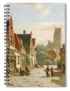 A Dutch Street In Summer Spiral Notebook