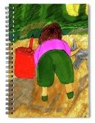 A Fall Walk On The Beach Spiral Notebook