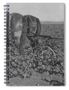 A Farmer Using A Cultivator  Spiral Notebook