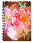 A February Abstract Spiral Notebook