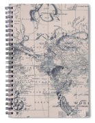 A Fishermans Map Spiral Notebook