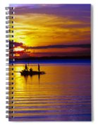 A Fisherman's Sunset  Spiral Notebook
