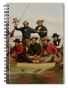 A Fishing Party Off Long Island Metal Spiral Notebook