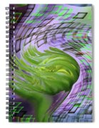 A Flower In The Sound Of Wind  Spiral Notebook