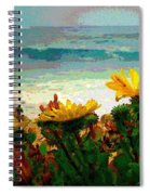 A Flowery View Of The Surf Watercolor Spiral Notebook