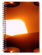 A Fractual Sunrise  Spiral Notebook