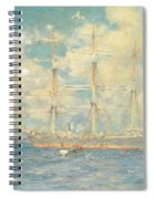 A French Barque In Falmouth Bay Spiral Notebook