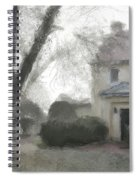 A Frosty Foggy Morning At The Manor House Spiral Notebook