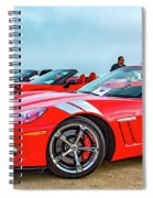 A Gaggle Of Vettes Spiral Notebook