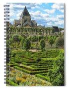 A Garden View At Chateau De Villandry Spiral Notebook